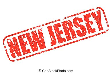 New jersey red stamp text