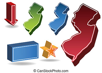 New Jersey State map.