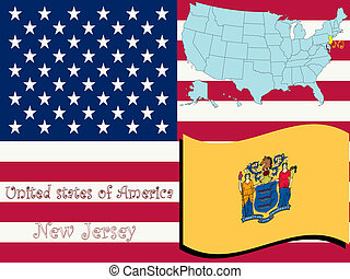 new jersey state illustration, abstract vector art
