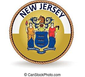 New Jersey State Seal - Seal of the American state of New...