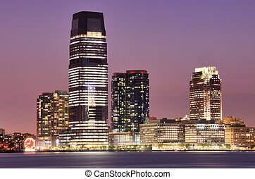 New Jersey - Exchange Place in Jersey City, New Jersey, USA.