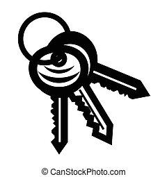 New keys simple icon
