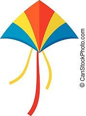 New kite icon, flat style