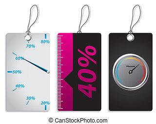 New label set with discount meter