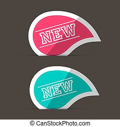 New Labels. Pink and Blue Stickers.
