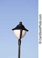 new  lamp on blue sky background