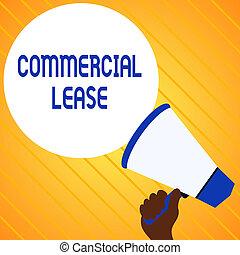 new., lease., texto, señal, loudhailer, ganancia, globo, discurso, tenencia, foto, conceptual, vacío, edificios, intended, anuncio, actuación, comercial, mano, refers, generar, tierra, redondo, o