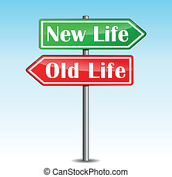 New Life arrows - Vector illustration of new life arrow on...