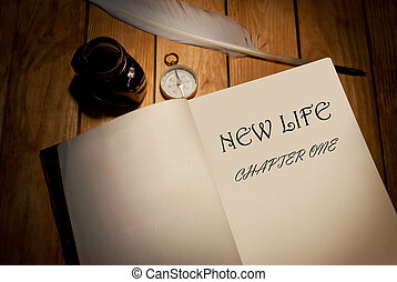 New life, chapter one handwritten book title