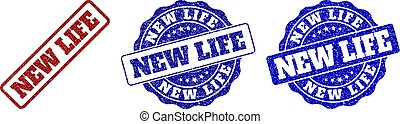 NEW LIFE Scratched Stamp Seals
