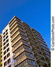 new life - new block-of-flats, clear sky
