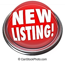 New Listing Button Flashing Red Light Home House for Sale -...