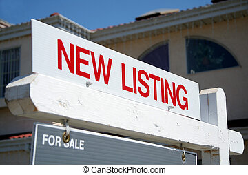 New Listing  - Real Estate red New Listing sign