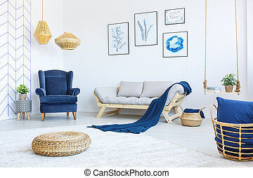 New living room with armchair