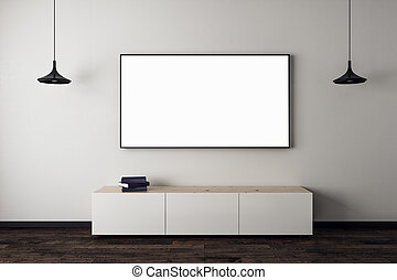 New living room with empty TV