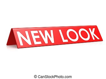 New look tag in red