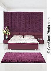 new luxury purple bedroom with flower