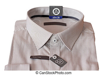 New male shirt over white backgroun