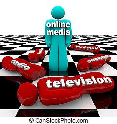 New Media vs. Old Media - The Battle is Won - Several fallen...