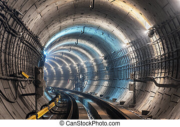 metro tunnel - new metro tunnel in moscow
