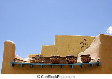 New Mexico Adobe Building Bowls
