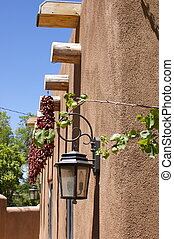 New Mexico Adobe Building Chilis - New Mexico adobe building...