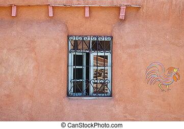 New Mexico Adobe Building - Window