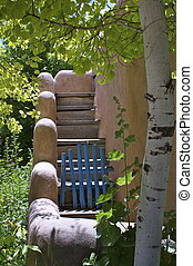 New Mexico Adobe Outdoor Stairs