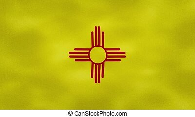 New Mexico US dense flag fabric wavers, perfect loop for background