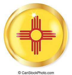 New Mexico Flag Button