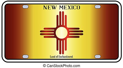 New Mexico Flag License Plate - New Mexico state license ...