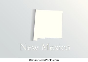 New Mexico map white vector image design illustration logo