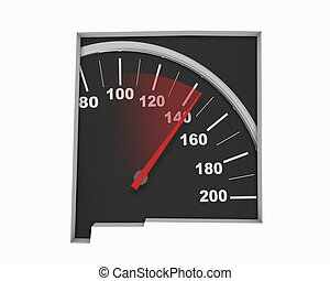 New Mexico NM Speedometer Map Fast Speed Competition Race 3d Illustration