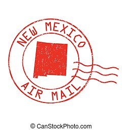 New Mexico post office, air mail stamp - New Mexico post...