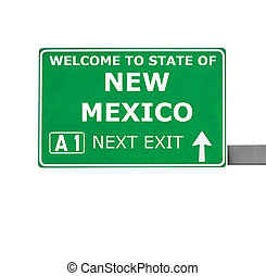 NEW MEXICO road sign isolated on white