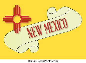 New Mexico Scroll - A scroll with the text New Mexico with ...