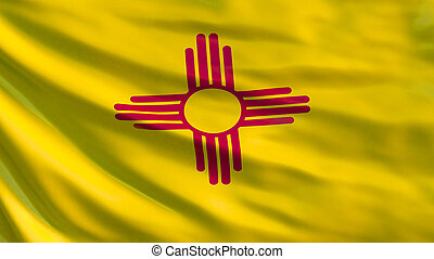 New Mexico state flag. 3d illustration