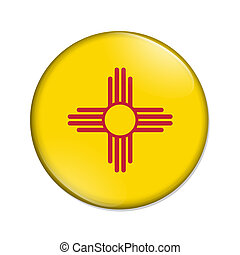 New Mexico state flag badge button