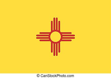 The flag of the state of New Mexico