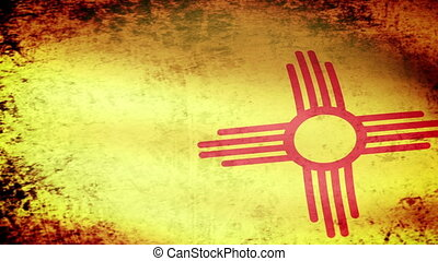 New Mexico State Flag Waving