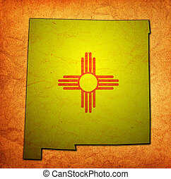 New Mexico state with flag