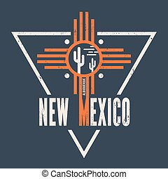 New Mexico t-shirt design, print, typography, label. - New...