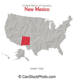 new mexico - United States of America map and New Mexico ...