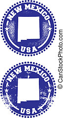 New Mexico USA Stamps - A couple of distressed stamps ...