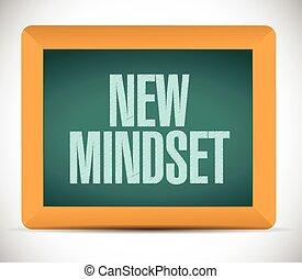 new mindset board sign illustration