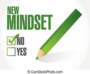 new mindset check list illustration