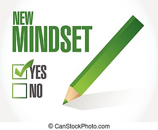 new mindset check list illustration design over a white ...