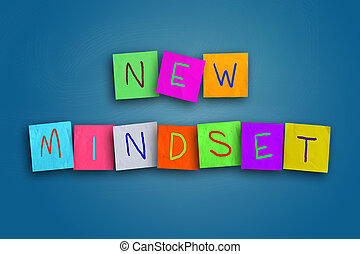 New Mindset Concept - The words New Mindset written on ...