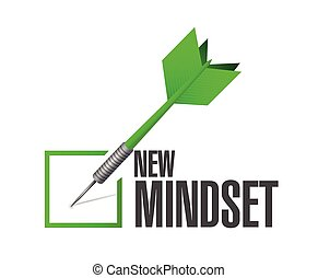 new mindset dart check mark illustration design over a white...