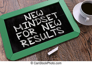 New Mindset for New Results on Chalkboard. - New Mindset for...